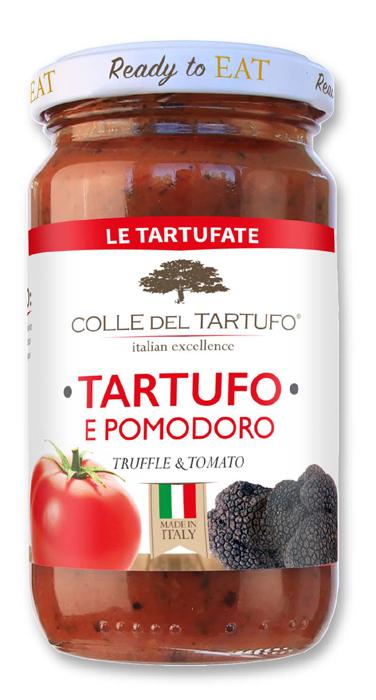 コレデルタルトゥフォ トリュフ&トマト トリュフソース 表面