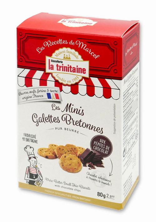ラトリニテーヌ ミニガレット チョコチップ 表面