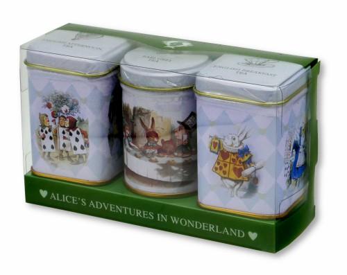 ニューイングリッシュティー 不思議の国のアリス 3缶 アフタヌーンティー イングリッシュブレックファスト アールグレイ 紅茶 表面