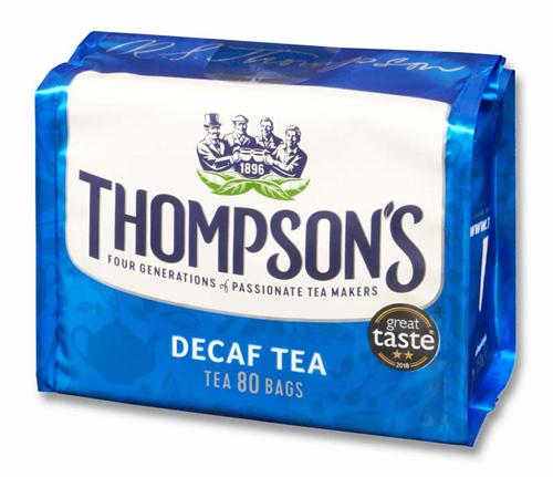 トンプソンズティー デカフェ カフェインレス 紅茶 表面